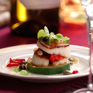 Caprese Scallop Stacks