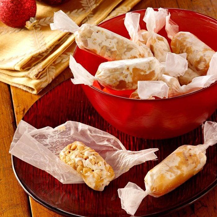 Caramel Nut Logs