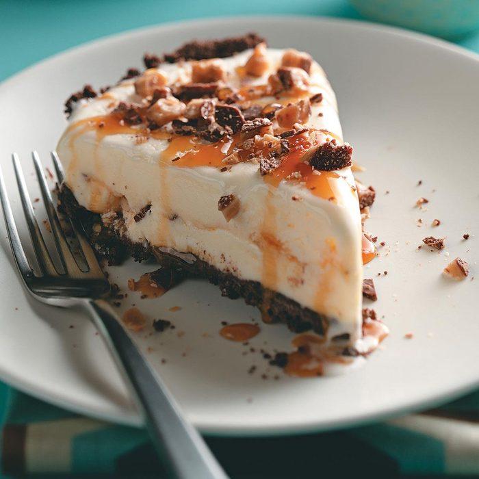 Caramel Toffee Ice Cream Pie