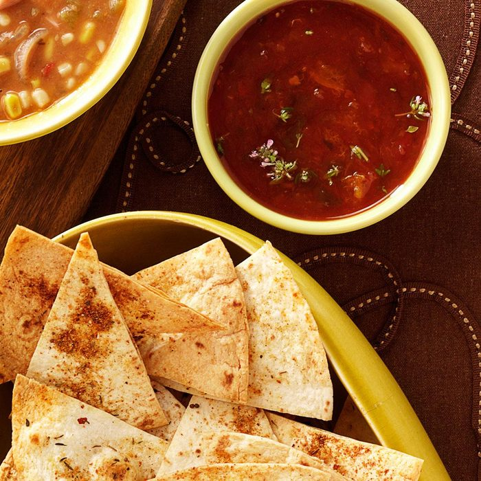 Caribbean Chips with Apricot Salsa