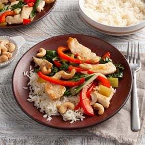 Cashew Chicken with Bok Choy