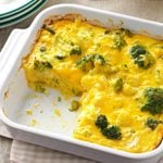 Cauliflower-Broccoli Cheese Bake