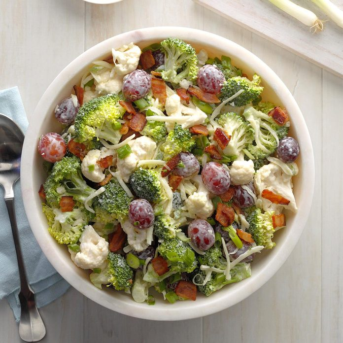 Cauliflower Broccoli Salad