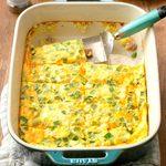 Cheddar-Ham Oven Omelet