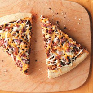 Cheesy Bacon Burger Pizza
