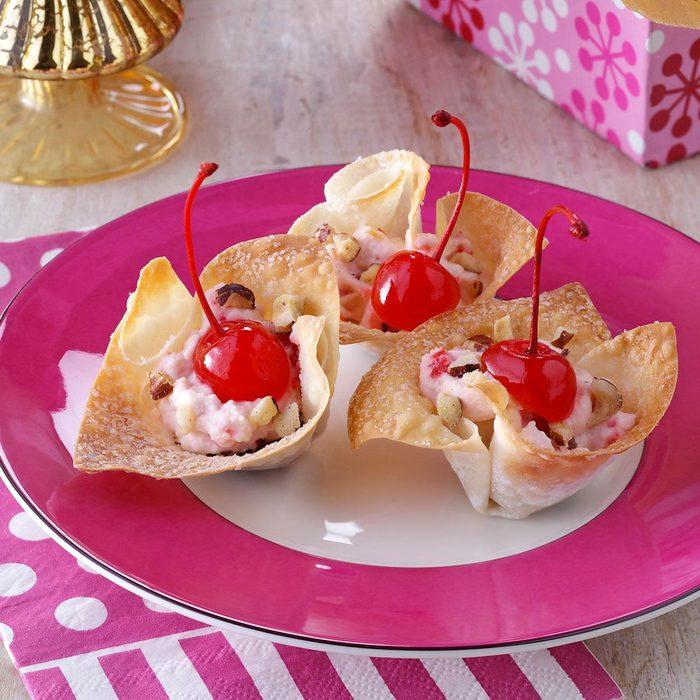 Cherry Cannoli Cups