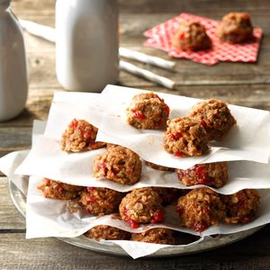 Cherry No-Bake Cookies