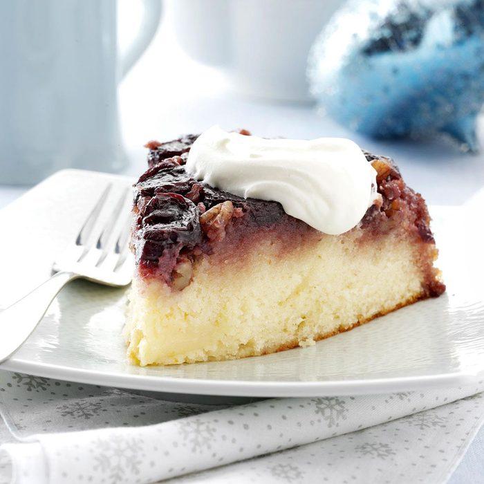 Cherry Pecan Upside-Down Cake