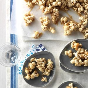 Chewy Caramel-Coated Popcorn