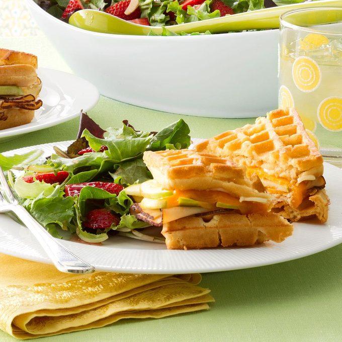 Chicken & Apple Waffle Sandwiches