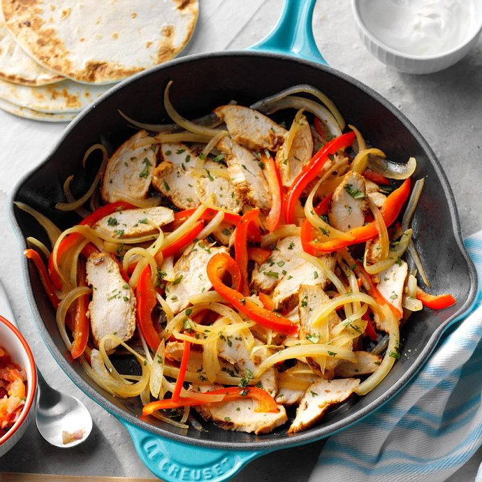 Chicken Fajitas for Two