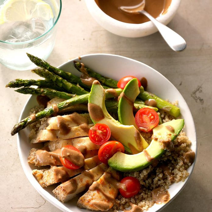 Chicken Quinoa Bowls with Balsamic Dressing