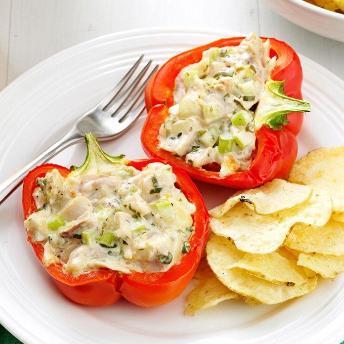 Chicken Salad-Stuffed Peppers