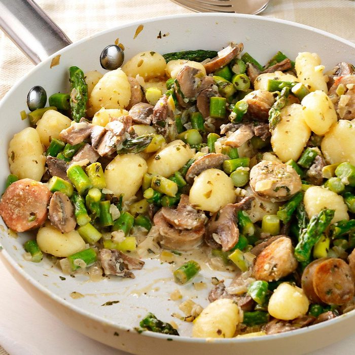 Chicken Sausage & Gnocchi Skillet