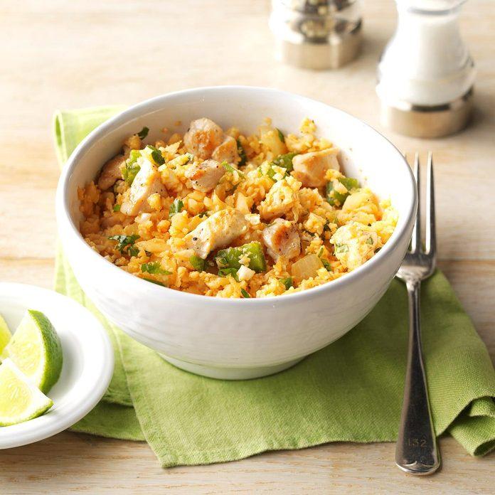 "Chicken & Spanish Cauliflower ""Rice"""