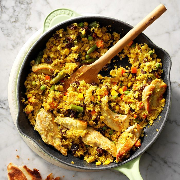 Day 19: Chicken and Vegetable Curry Couscous