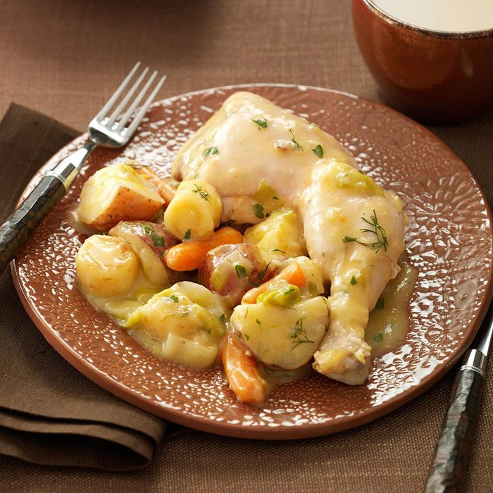 Chicken & Vegetables with Mustard-Herb Sauce