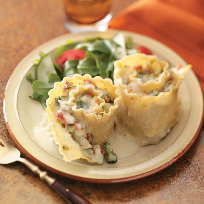 Chicken and Broccoli Lasagna Rolls