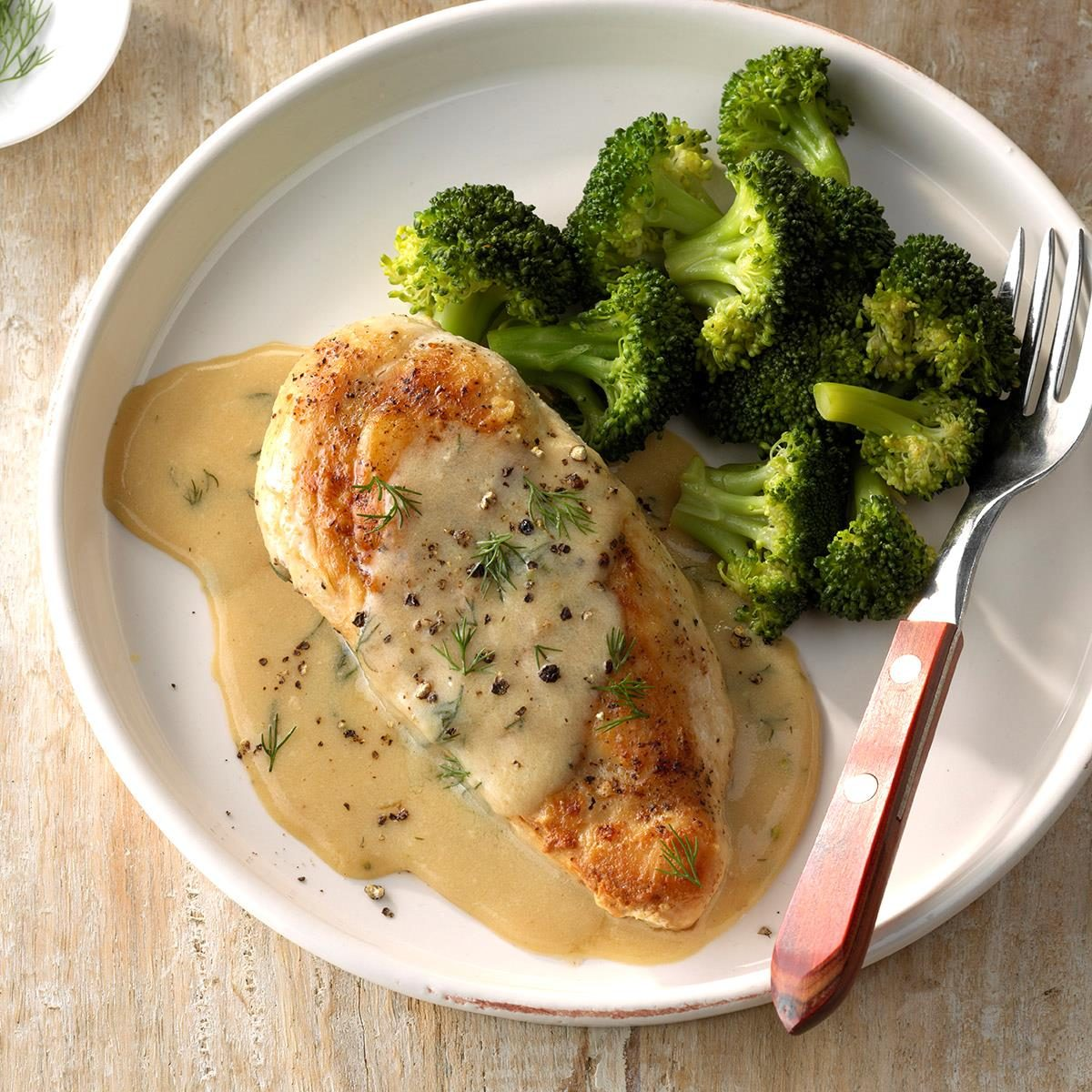 Day 11: Chicken and Broccoli with Dill Sauce