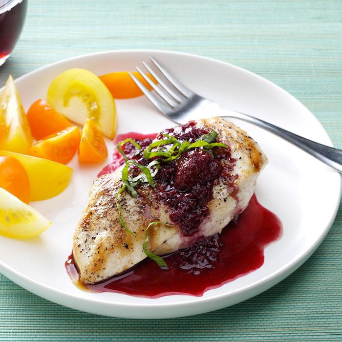 Chicken with Berry Wine Sauce