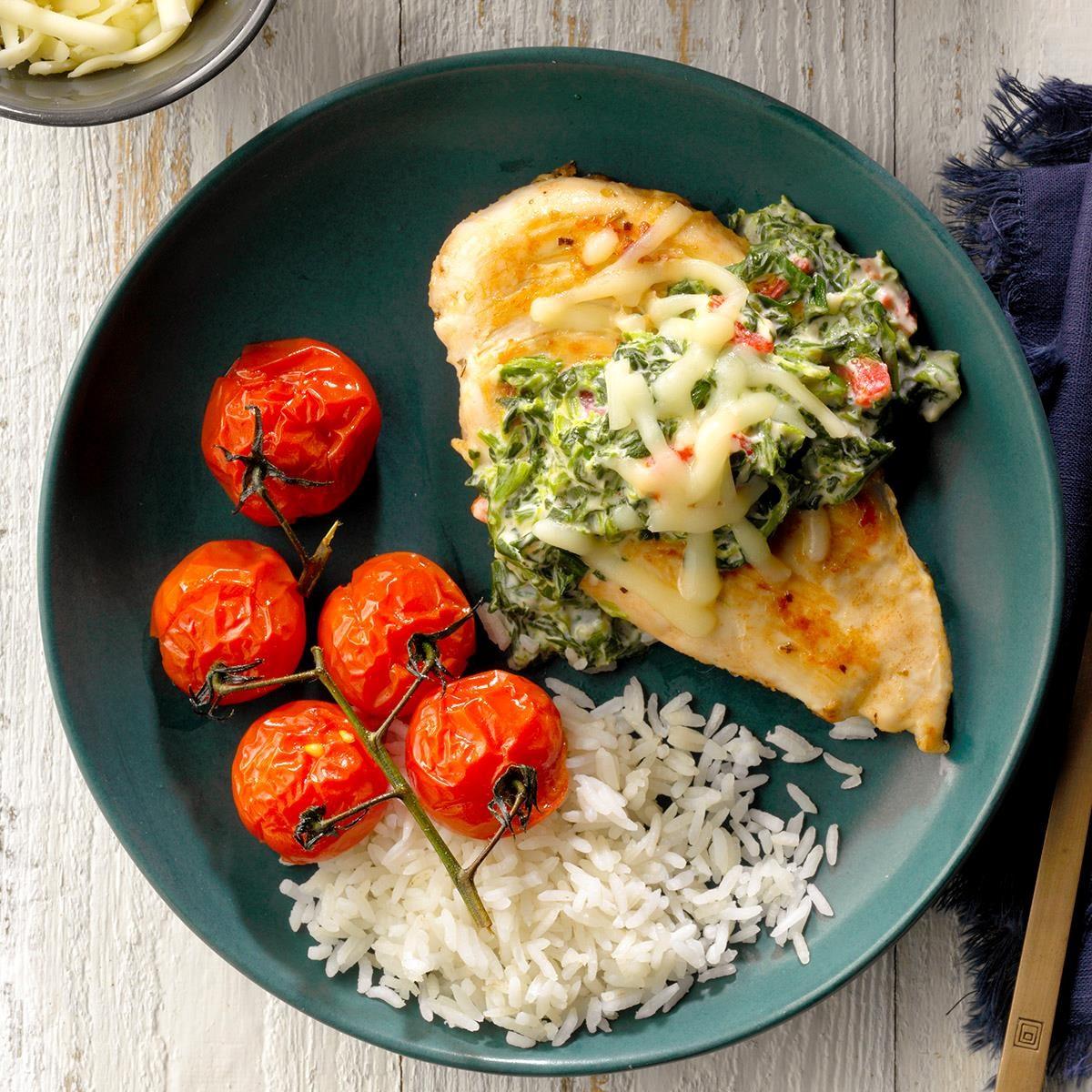 Monday: Chicken with Florentine Sauce