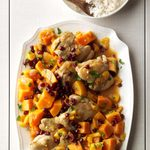 Chicken with Sugar Pumpkins & Apricots