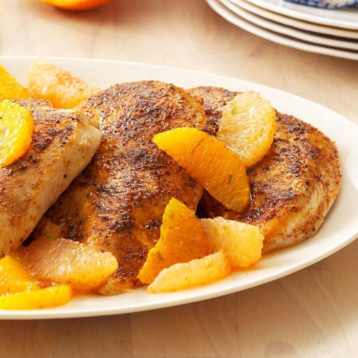 Chicken with Three-Citrus Topping