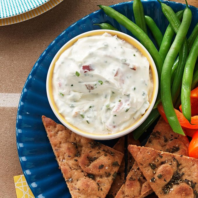 Chive Mascarpone Dip With Herbed Pita Chips Exps94176 Th2237243f10 13 5bc Rms