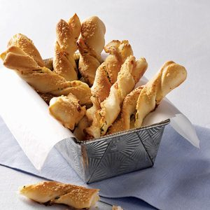 Chive and Cheese Breadsticks