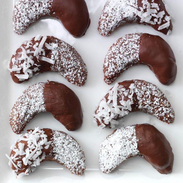 Chocolate Almond Crescents