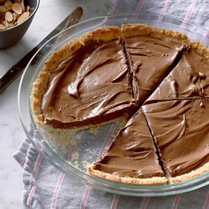 Chocolate Almond Silk Pie