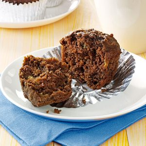Chocolate Banana Bran Muffins