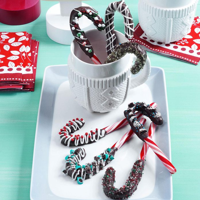 Chocolate-Dipped Candy Canes