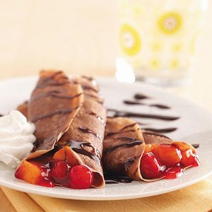 Chocolate-Fruit Crepes