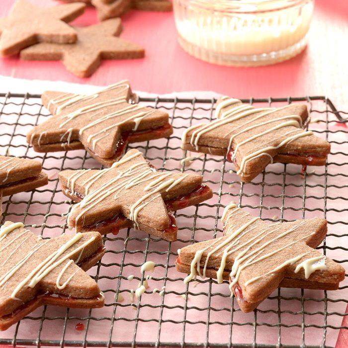 Germany: Chocolate Linzer Torte Stars