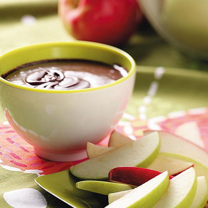 Chocolate Mint Apple Fondue