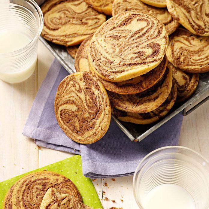 Chocolate-Swirled Peanut Butter Cookies