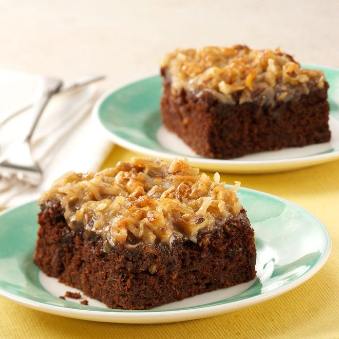 Chocolate Zucchini Cake with Coconut Frosting