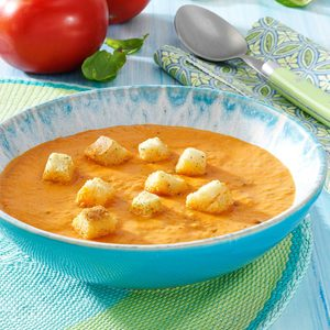 Chunky Tomato-Basil Bisque