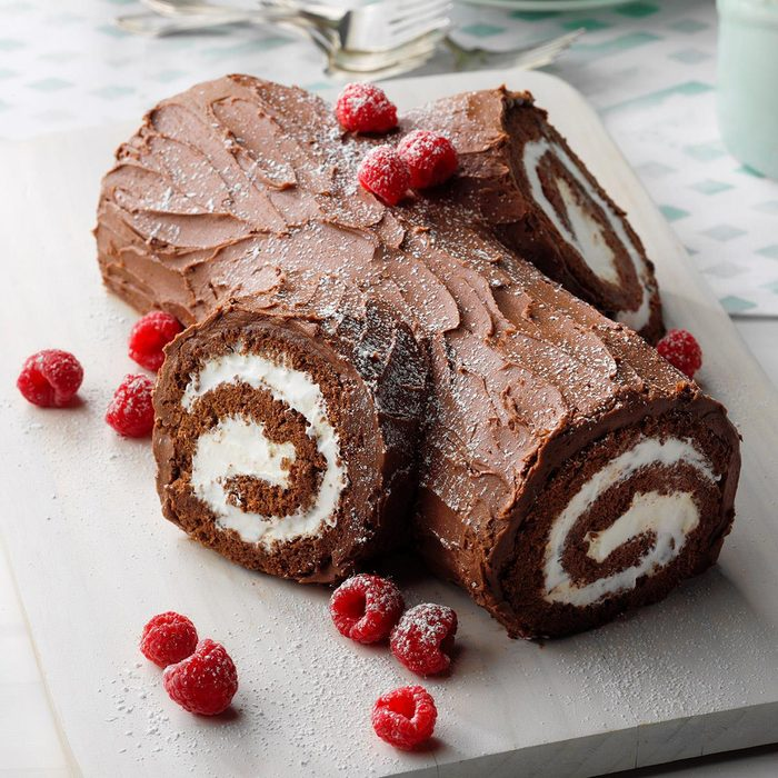 Cocoa Frosting Yule Log