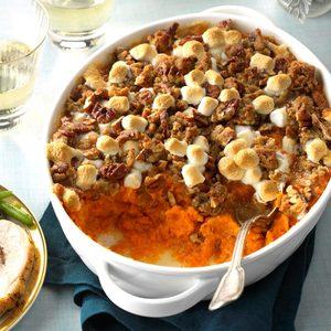 Coconut-Bourbon Sweet Potatoes