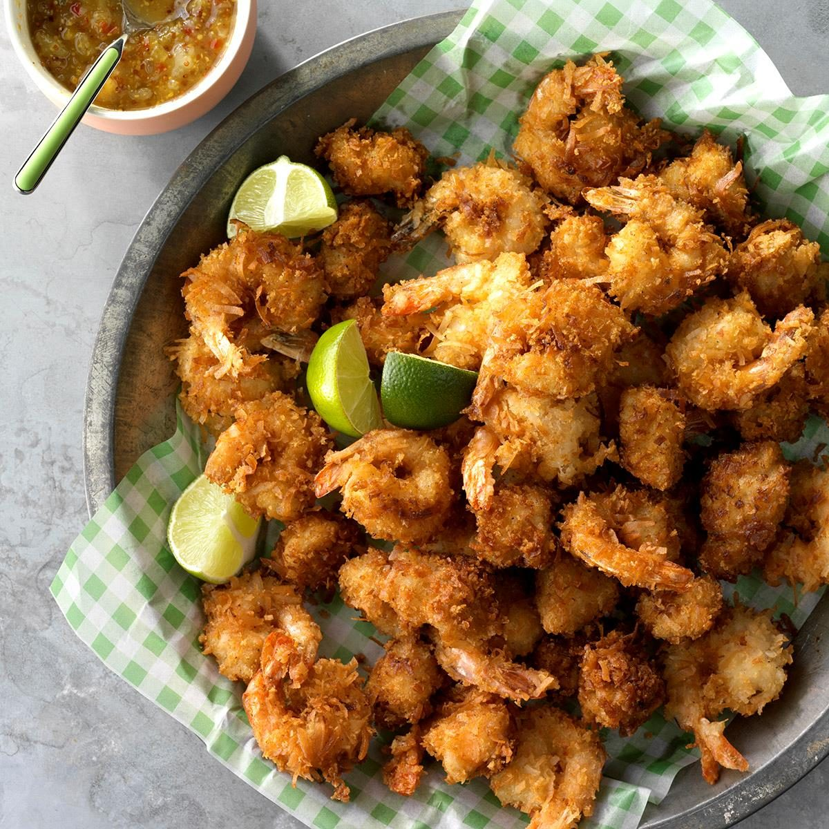 Coconut Chicken and Shrimp