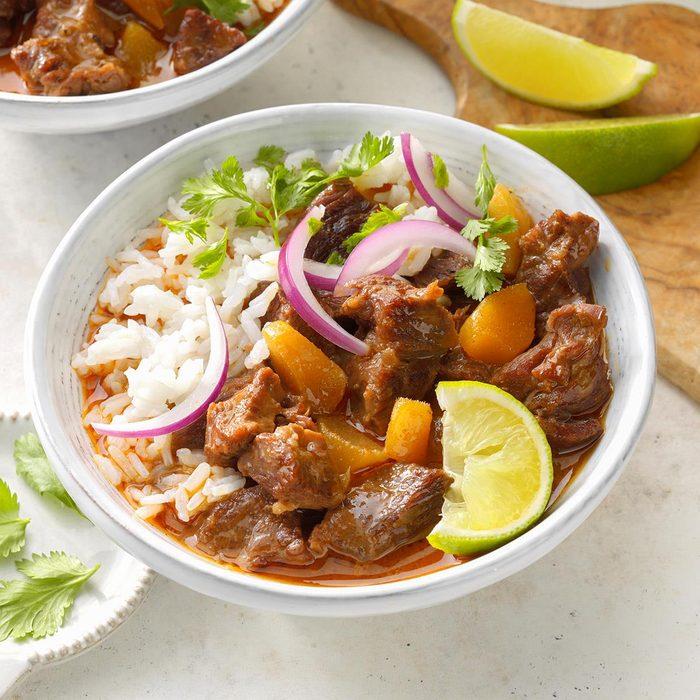 Coconut Mango Thai Beef Curry