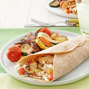 Coleslaw Chicken Wraps