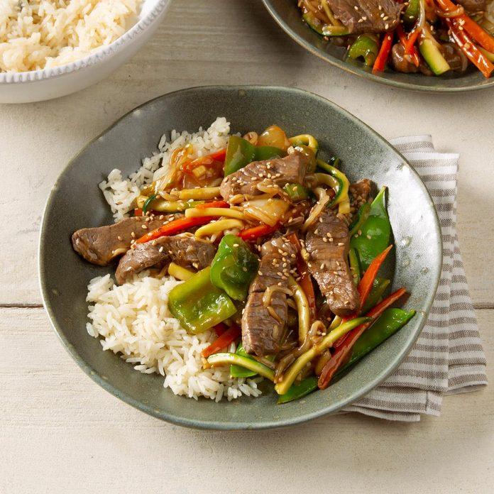 Colorful Beef Stir-Fry
