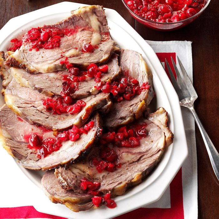 Coriander-Crusted Beef with Spicy Cranberry Relish