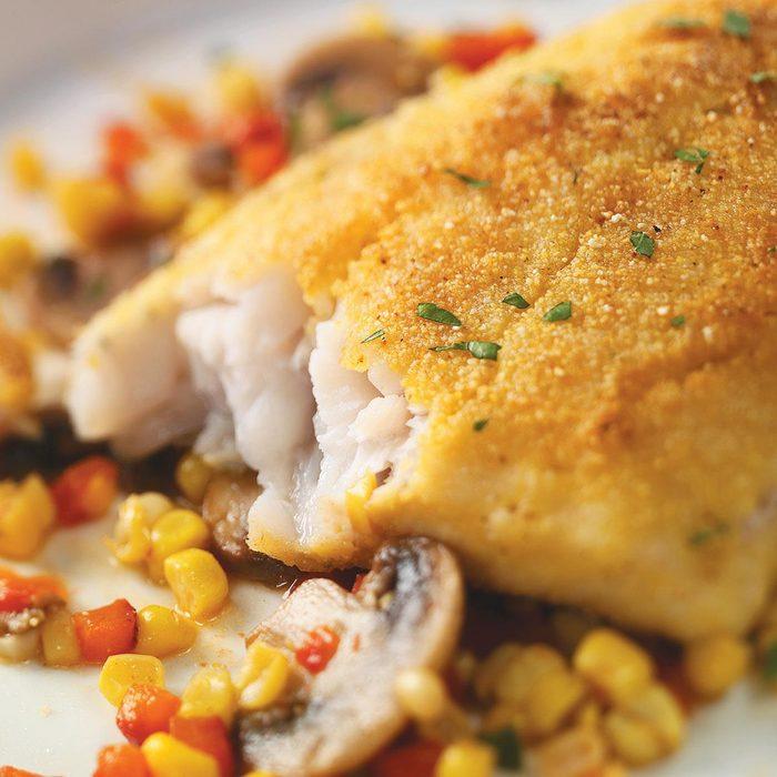 Cornmeal-Crusted Walleye