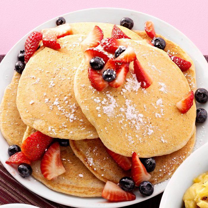 Cornmeal-Wheat Pancakes