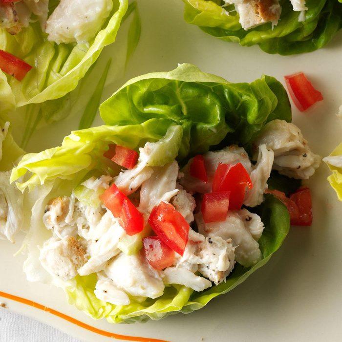 Crab Cake Lettuce Wraps