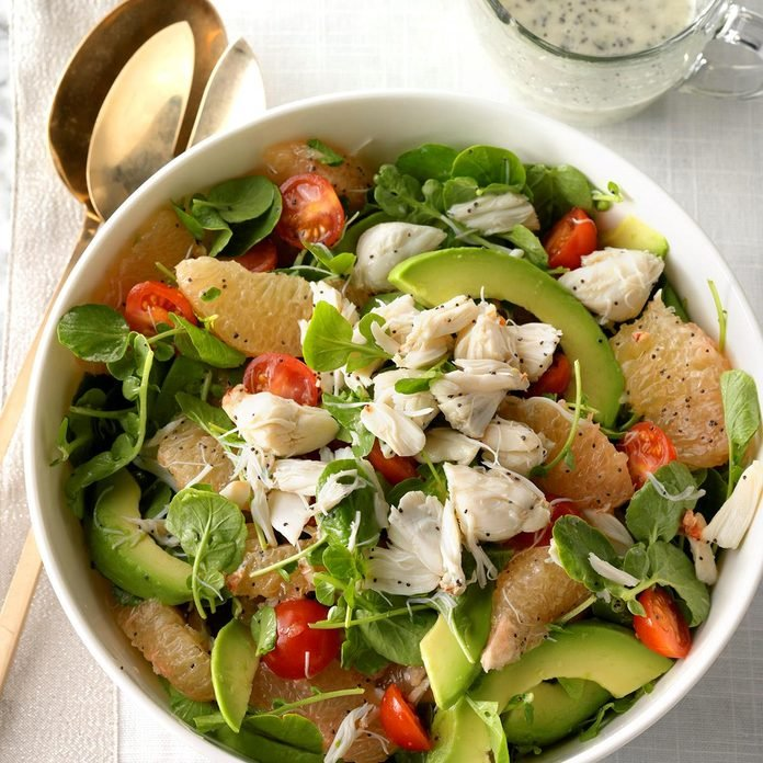 Crab, Grapefruit and Watercress Salad